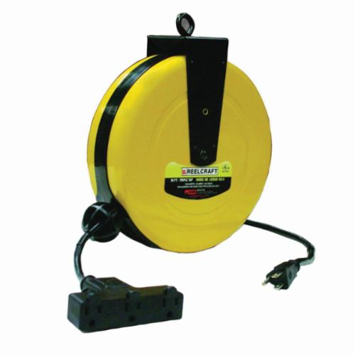 Reelcraft Ld2030 163 9 Light Duty Sjtw Retractable Power Cord Reel Extension W Circuit Breaker