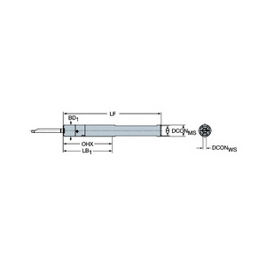 Sandvik Coromant CXS-A0750-06 Cylindrical shank with flat to CoroTurn XS adaptor